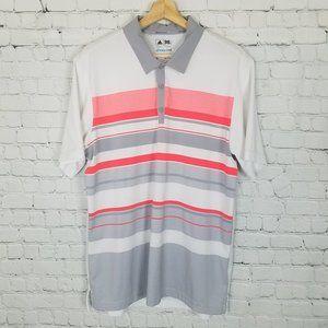 Adidas climacool Golf Polo Large Orange Grey White